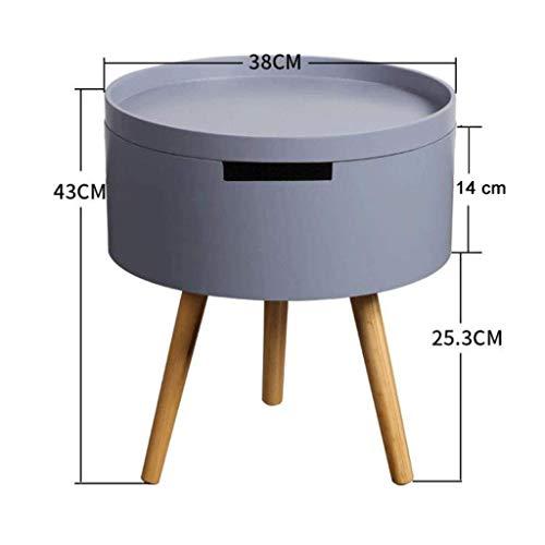 L.TSA Couchtisch Beistelltische Kleine runde Tischablage Sofa Beistelltisch Einfache runde Wohnzimmer Beistelltisch (Farbe: Grau) -