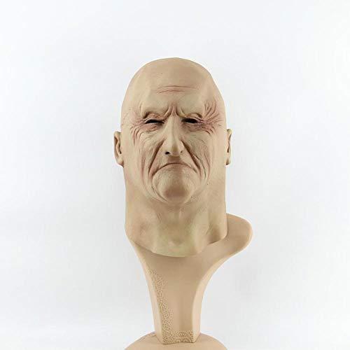 LXIANGP Latex Maske Alter Mann Kopfbedeckung Maskerade cos Halloween Karneval Maske Tanzparty Horror Maske (Mann Halloween Alten)