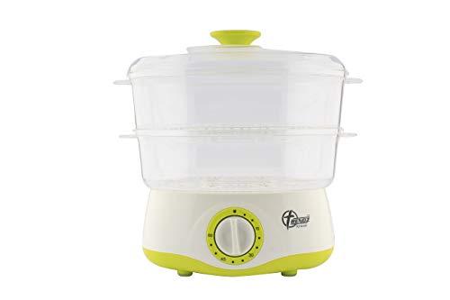 Trendz Forever TF-1707 400-Watt Plastic Electric Food Steamer, 4 L, White