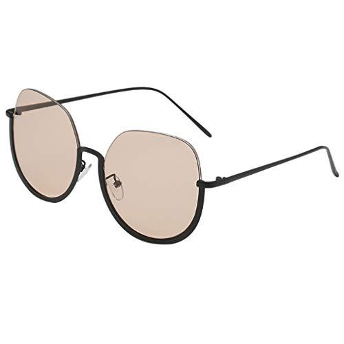 CixNy Damen Herren Polarisierte Sonnenbrille, Unisex Oval Semispecular Rahmen Hochwertige Brille 100% UV-Schutz, UV400 Objektiv Mode Gespiegelte Eyewear