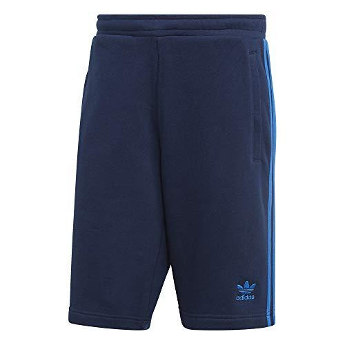 adidas Herren 3-Stripe Sport Shorts, Collegiate Navy/Bluebird, S Originals 3 Stripes Trefoil