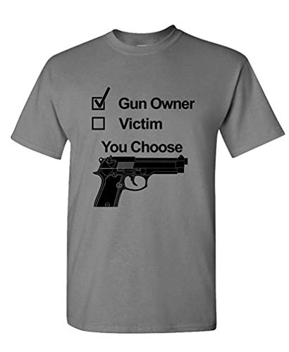 Gun Owner - not Victim 2nd Ammendment Right - Mens Cotton T-Shirt XXL