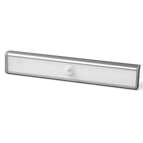 Techzere™ Motion Sensor LED Night Light Bar With 3M Adhesive and Magnetic Strip, Stick-on Anywhere. Ideal for Cabinets, Wardrobe, Drawers, Stairs, Bathroom etc (Cool White)