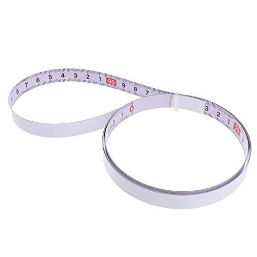 Fenteer Selbsthaftendes Schneidermaßband Bandmaß mit selbstklebender Rückseite, metrisch - 1m