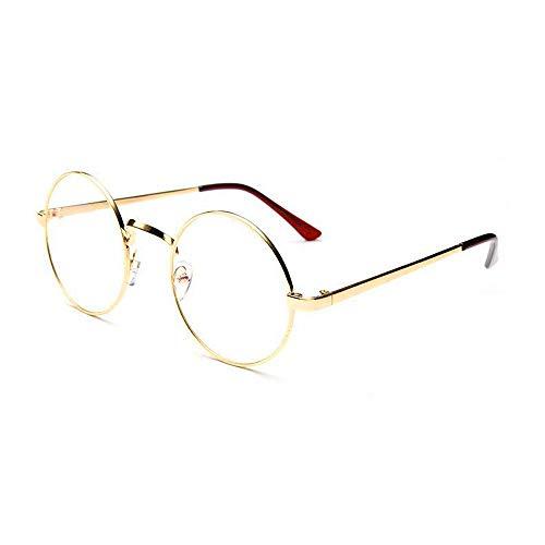 VRTURRetro Runde Brille Mit Fensterglas Damen Herren Brillenfassung, 5 Paar(One size,D)