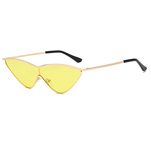 Dragon868 Frauen Vintage Cateye Rahmen Shades Acetat Rahmen UV Gläser Sonnenbrille (B)