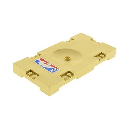 Bausteine gebraucht 1 x Lego System Spielfeld beige tan 8 x 16 Basketball mit NBA Aufkleber Platte Sports Field Set 3433 30489pb03