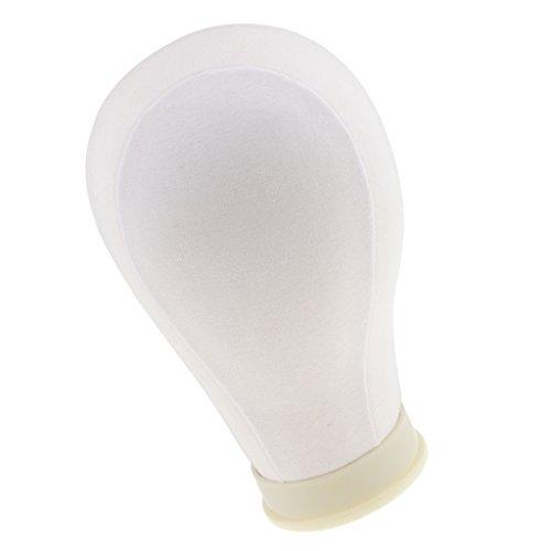 MagiDeal Schaufensterpuppe Dekokopf Perückenkopf Mannequin Display Modell Kopf Für Perücken Hüte Mütze Halter Ständer zur Präsentation - 23 Zoll Weiß, 23 Zoll