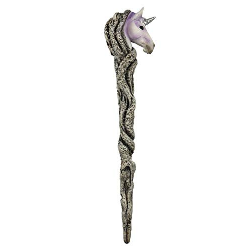Weird Or Wonderful Nemesis Now Zauberstab mit Einhornmotiv, 24,5 cm, Gothic-/Wicca-Zauberstab, Zauberstab, Zauberstab, Harry Potter, Mythische Magie, Magische Harry Potter