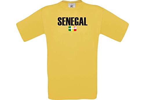 Shirtstown Man Camiseta Fútbol Camiseta País Senegal