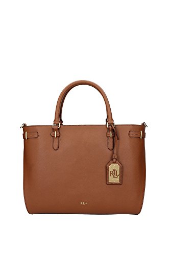 Sac à main Ralph Lauren Femme Cuir Marrone et Or N91XZ0ARXY0ARXW0BT Marron clair 14.5x25x30.5 cm