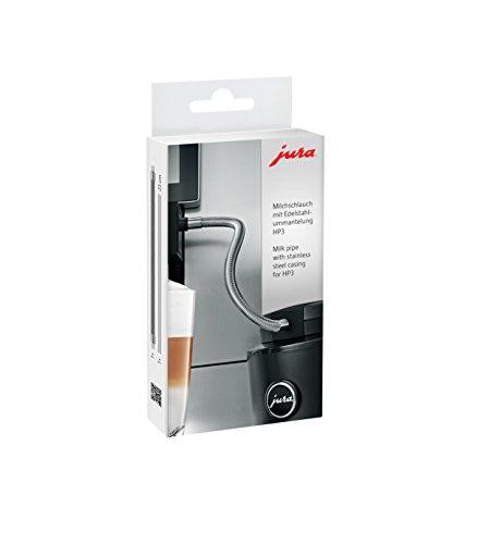 Jura 24114 Milchschlauch mit Edelstahlummantelung HP3, Silber