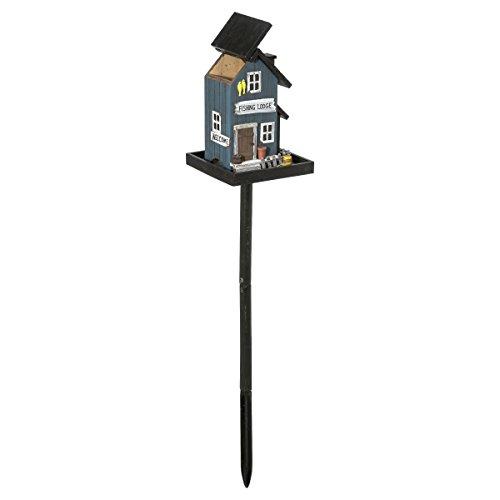 miaVILLA Futterhaus für Vögel – Vogelfutterhaus mit Ständer – Holz – Bunt - 3