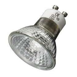 Ampoule halogène GU10 avec verre de protection 50Watt 2-Pack