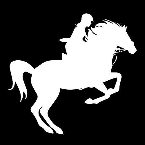 Zemn Wandtattoo Reiten Pferd Sport Vinyl Auto-Styling Dekor Auto Aufkleber @ B