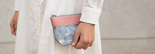 Wicemoon Portable Wasserfeste Schmink Beutel Make-up Case Täschchen Kosmetiktasche Toiletry Bag,Braunen Blumen #4
