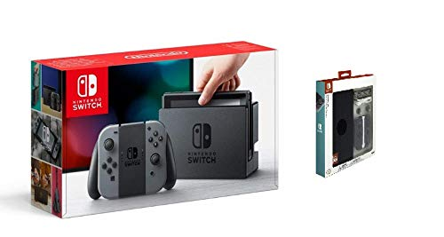 Nintendo Switch Konsole Grau + Nintendo Switch Essentials Kit-Switch Edition -