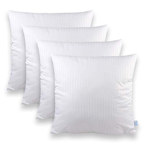 *Sleeb Füllkissen 45×45 cm 4 Stück Reißverschluss Waschbar Weiß Kissen-Füllung Kissen-Inlett Innen-Kissen*