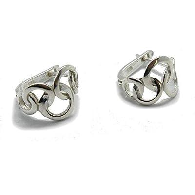 Boucles d'oreille en argent massif 925 E000741