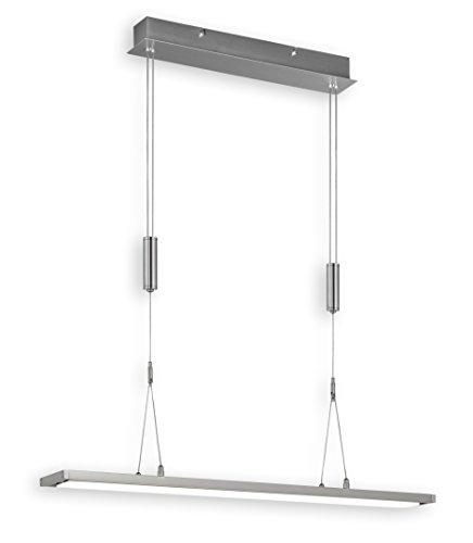 Deckenleuchte Pendelleuchte Nickel matt metall Acrylglas 1-flammig 68461 Spot Design Lampe Leuchte Beleuchtung Hängelampe LED