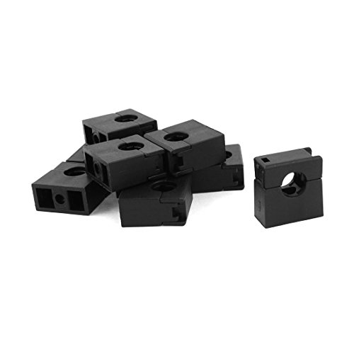 Sourcingmap-® Montaje Fijo AD10Corrugado Conduit Pipe Clip Clamp Soporte Negro 10Pcs