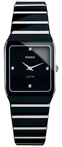 Rado Diastar Anatom Jubile Black Hardmetal & 18kt solid white gold Womens Watch Quartz R10464711