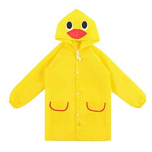 Metyere bambini impermeabile stile animale bambini giacca a vento impermeabile indumenti impermeabili unisex cartone animato bambini impermeabili - giallo