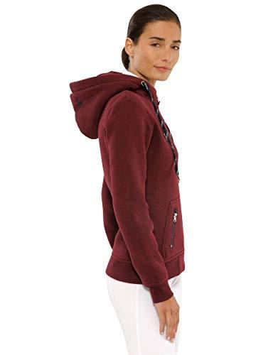 SPOOKS Damen Sweatjacke, Kapuzen-Jacke Mädchen Kinder Frauen - Awa Jacket Bordeaux S - 3