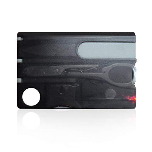 Multifonctionnel de survie en plein air en acier multi-outils Stainles Set Kit de taille de carte de crédit LED couteau fonctionnel 12 en 1 Suisse