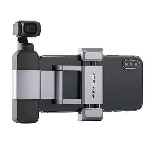 Hensych PGYTECH für Osmo Pocket Phone Holder +, Faltbarer Aluminium-Handyhalter Plus Halterungsset für DJI Osmo Pocket, für Mobiltelefon (Breite ≤ 90 mm)
