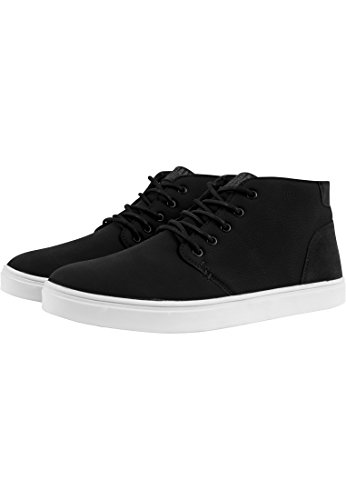 URBAN CLASSICS Scarpe casual uomo donna Hibi Mid Shoe TB1290 (40, Black/White)