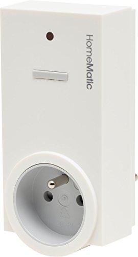Homematic 141131A0 Funk-Schaltaktor 1-Fach mit Leistungsmessung, Zwischenstecker, Typ E (Frankreich/Polen)