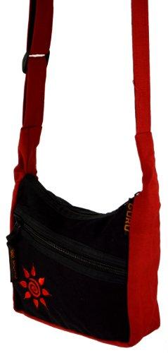 Kleine Schultertasche, Hippie Tasche, Goa Tasche / Schultertaschen Rot