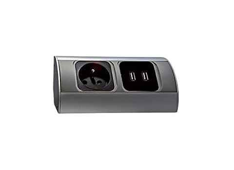 Bloc prises cuisine avec 2 prises USB pour charger vos