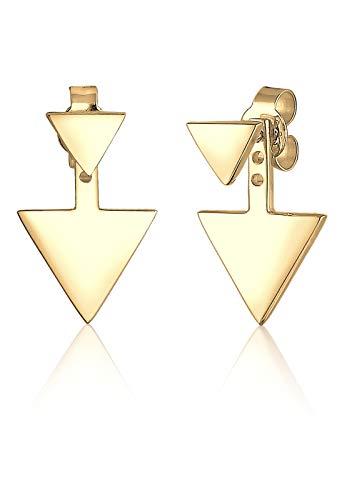 Elli Damen-Ohrstecker Dreieck Geo 925 Silber - 0309440516