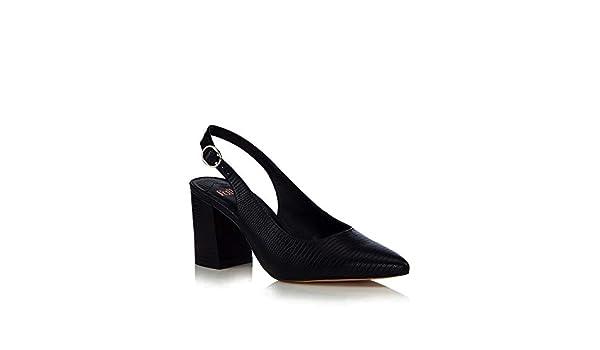 282f237acd59 Debenhams Faith Womens Black  Cake  Block Heel Slingbacks Sandals 4   Amazon.co.uk  Shoes   Bags