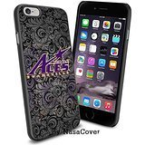 (Available for iPhone 4,4s,5,5s,6,6Plus) NCAA University sport Evansville Purple Aces , Cool iPhone 4 5 or 6 Smartphone Case Cover Collector iPhone TPU Rubber Case Black [By Lucky9Cover]