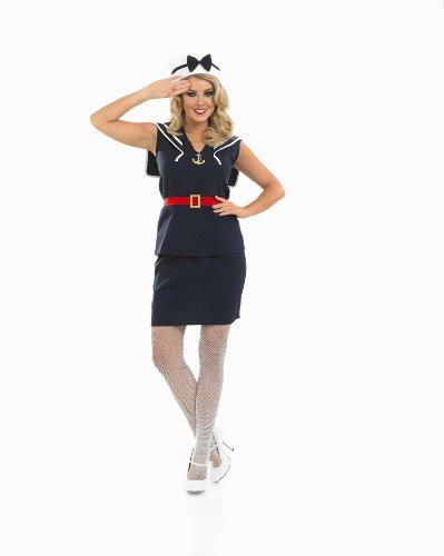 Girl Pin Sailor Up Kostüm - Pin Up Sailor Girl