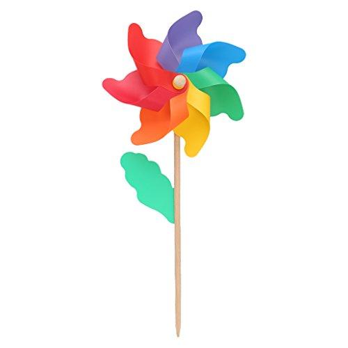 Tandou24 cm Holz Garten Hof Party Windmühle Wind Spinner Ornament Dekoration Kinder Spielzeug - Wind-spinner-motoren