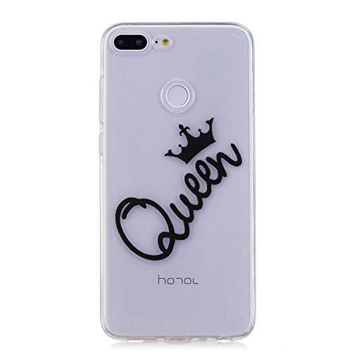 Surakey Coque Compatible avec Huawei Honor 9 Lite,Etui Housse Huawei Honor 9 Lite,Impression de Motif Transparente Souple Silicone Housse Etui Coque en TPU Bumper Case pour Huawei Honor 9 Lite,Queen