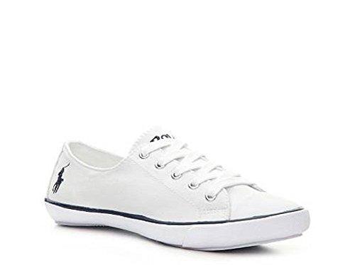Ralph Lauren Polo Damen Canvas Sneaker Weiß (38 EU / 5.5 UK)