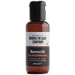 Bartshampoo, Bartseife Beard Wash 100 ml ✔ Reinigung und Pflege für den Bart - Naturkosmetik der BROOKLYN SOAP COMPANY ® ✔ Die natürliche Bartpflege für den modernen Mann auch als Geschenkidee