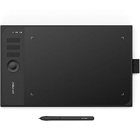 XP-Pen Star 06 kabellos Batterielos Stylus Pen Tablett Grafiktablett mit USB Flash Treiber (Star 06, Schwarz)