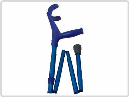 Unterarmgehstützen Unterarmgehstütze, blau faltbar 1 Paar (links und rechts) - Gehhilfen Krücken - Krücken Faltbare