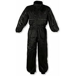 A-pro – Traje de lluvia para moto, mono impermeable, negro, talla L