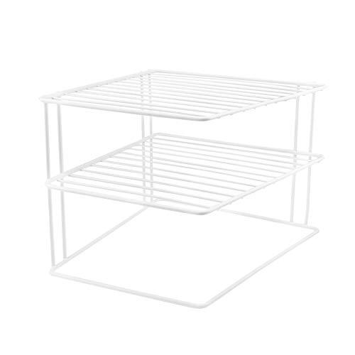 Schrankeinsatz mit 2 Etagen - weiß, 25 x 25 x 20 cm, Metall mit Kunststoffummantelung