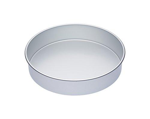 Kitchen Craft MCSA09 Tiefe große Runde Kuchenform, Harteloxal, Silber, 35 x 35 x 7.5 cm