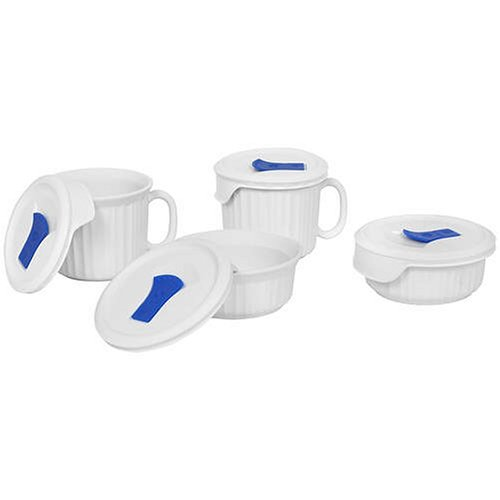 Corningware-becher (CorningWare French White Pop-Ins 8-Piece Round Bake and Serve Set by CorningWare)