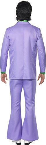 Lavendel 1970er Jahre Anzug Kostüm Jacke mit Mock Hemd und Weste Hose, Large - 2