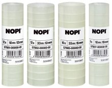 NOPI Klebefilm, transparent, 10 Rollen, 10m x 15mm